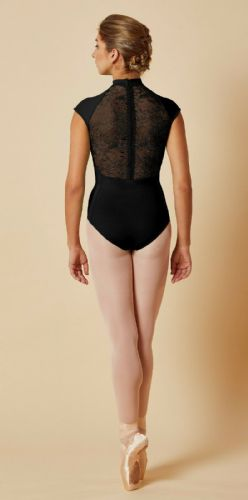 Mirella by Bloch Ladies Dance Cap Sleeved Leotard Lace Zip Back M5082 Black